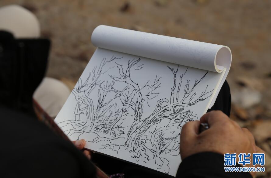 内地与香港画家重走长安画派创始人赵望云写生路