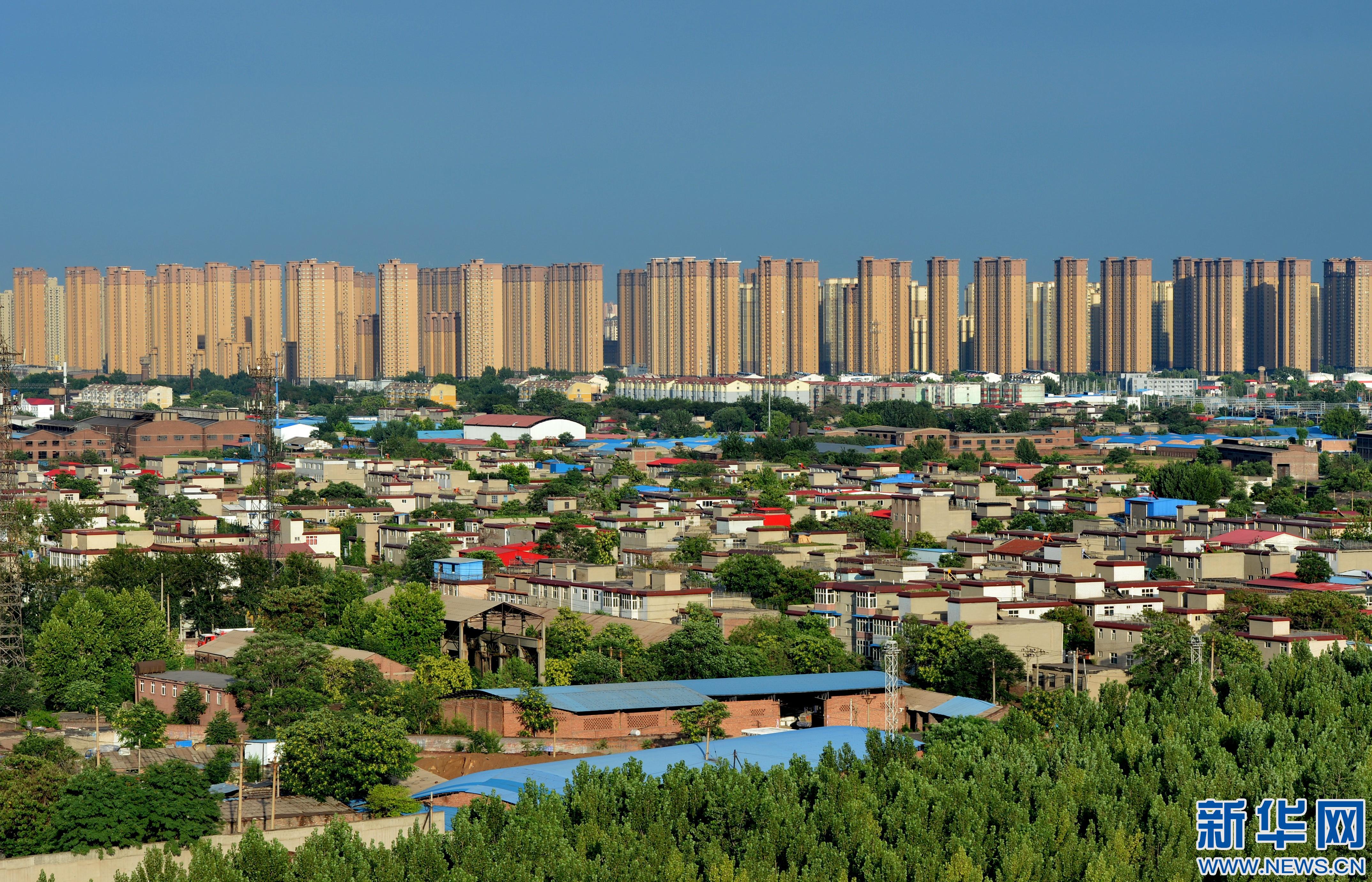 河北省邯郸市_这是河北省邯郸市市区内的商品房住宅楼(6月23日摄).