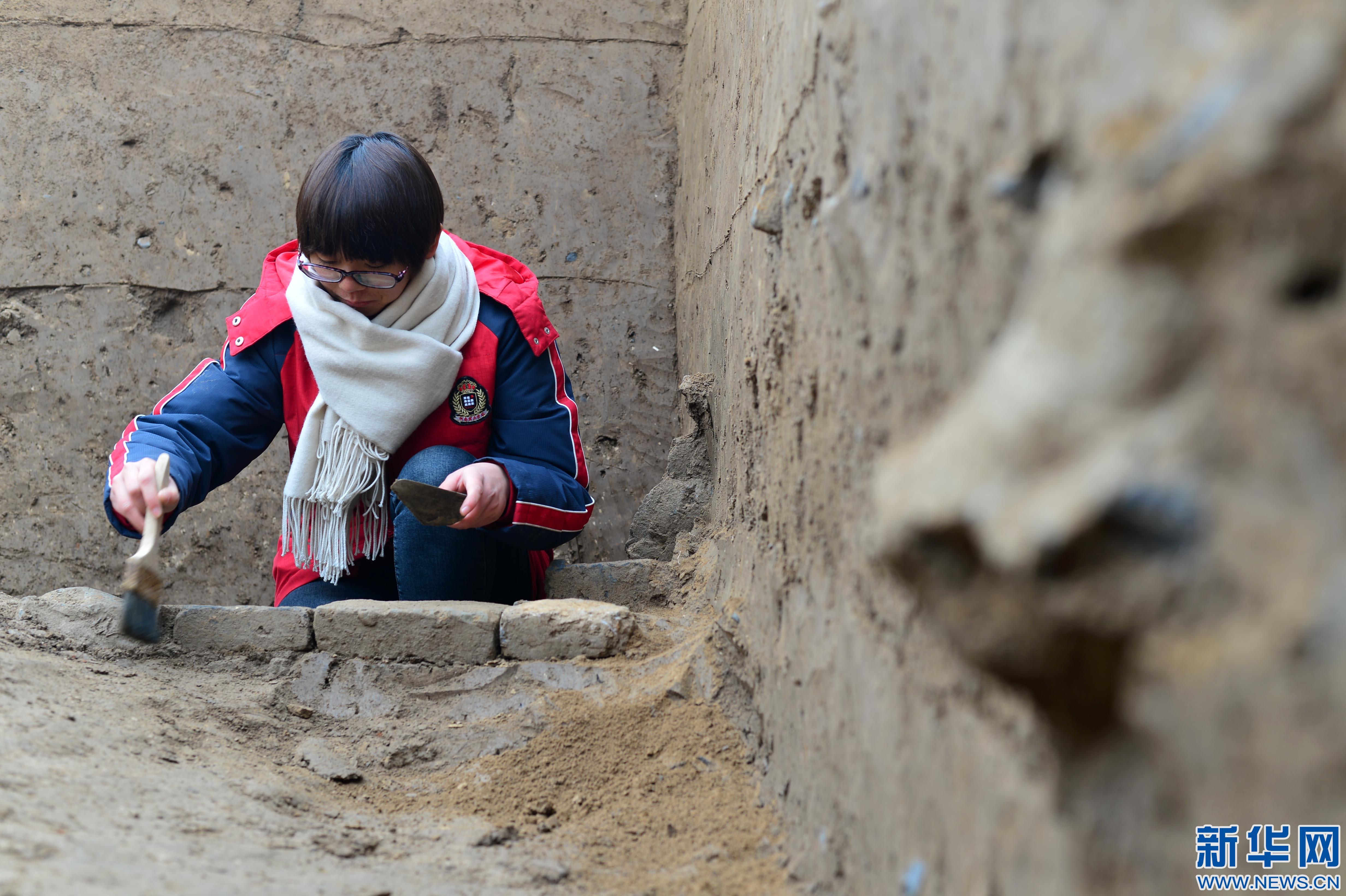 河北柏人城遗址进行首次挖掘
