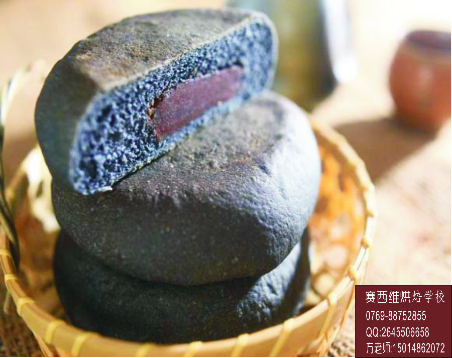 7月面包全面升级啦之一竹炭红豆面包 - 新华博