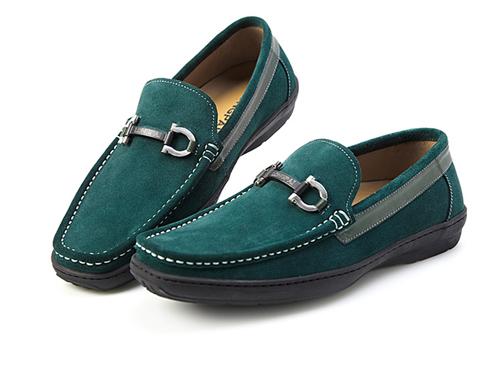 男士套脚反绒皮帆船鞋
