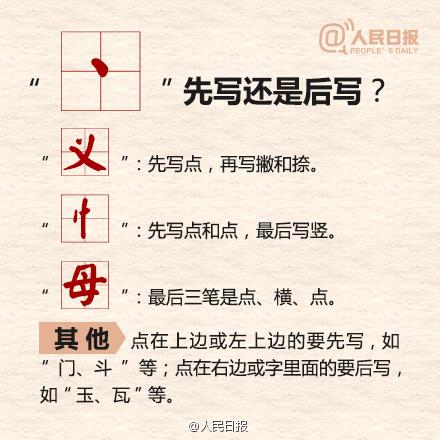 出的笔画顺序图-国家规定的汉字笔顺规则,你写对了吗