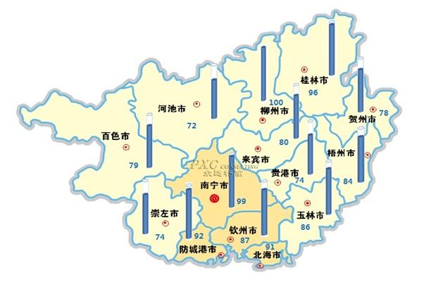 3年广西省薪酬地图 南宁稍逊柳州