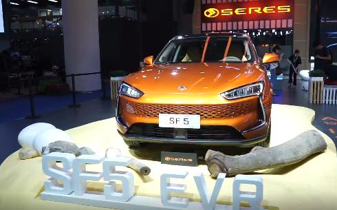 SERES赛力斯携首款电动轿跑SUV SF5亮相成都车展