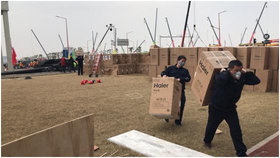 """【品牌战""""疫""""】提前完工!300台海尔热水器在雷神山完成安装"""