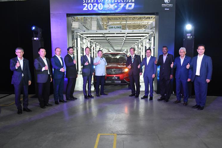 吉利汽车与马来西亚宝腾合作车型X70实现本土化生产