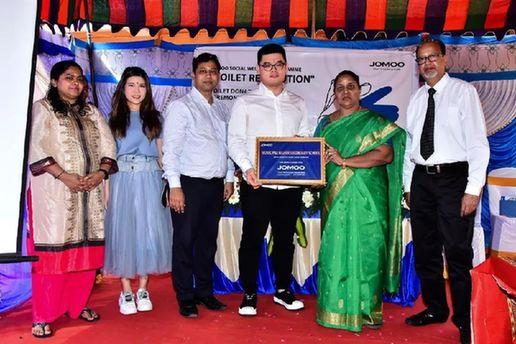 九牧集团向印度金奈中学捐赠卫生洁具