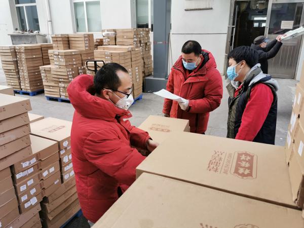 桂发祥向防疫一线人员提供食品捐赠