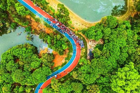 世界水日,珠海举行环保徒步活动