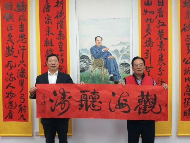 丝绸源路承办庆祝建国70华诞军地书画名家作品联展