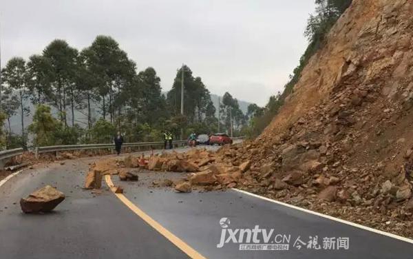 雨水天气致江西多地发生滑坡和泥石流