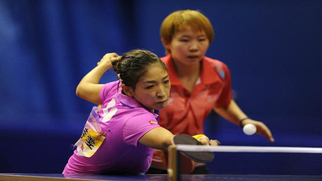 全国乒乓球锦标赛辽宁陈幸同获女单亚军