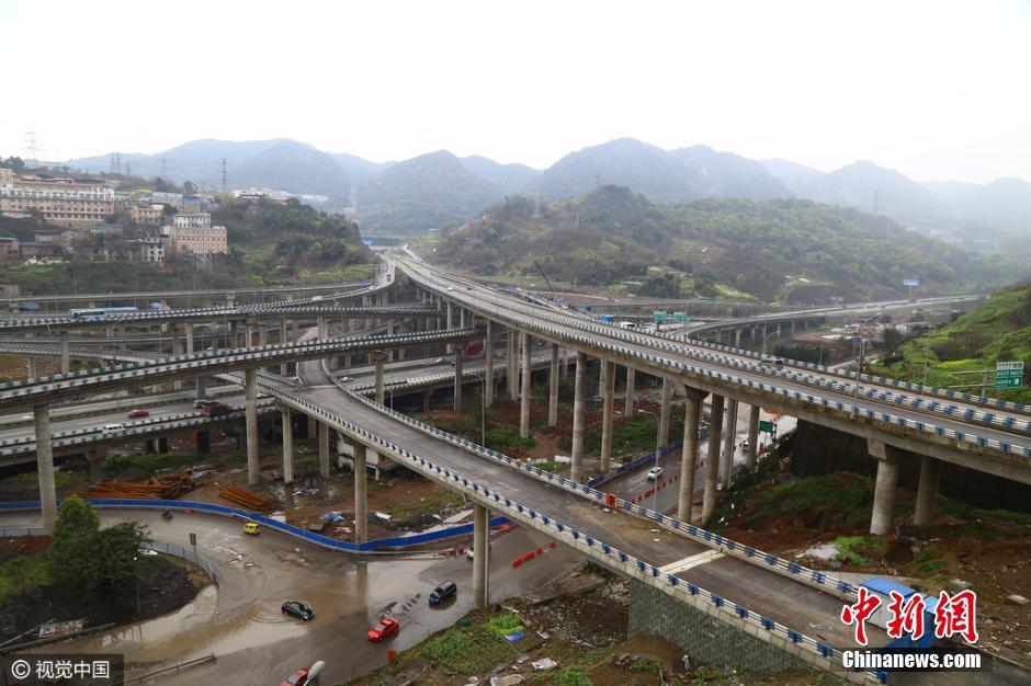 重庆现 最任性 立交桥 5层15条匝道规模庞大图片