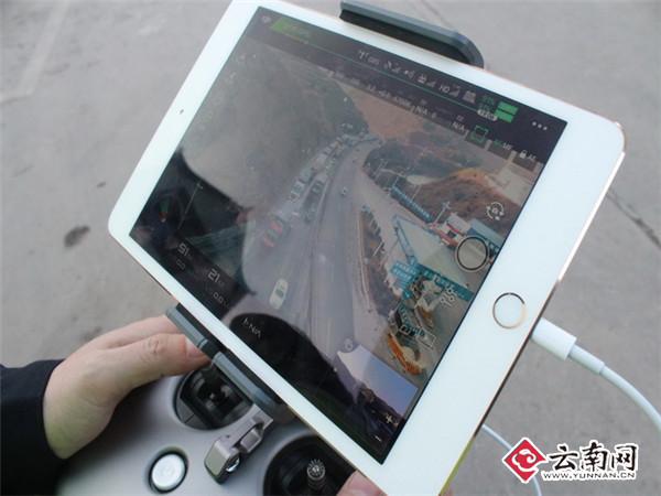 云南曲胜高速交警采用无人机抓拍违章