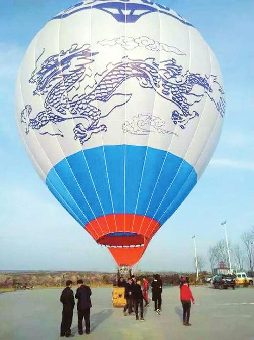 晋中旅游再添新项目 乘着热气球俯瞰百草坡