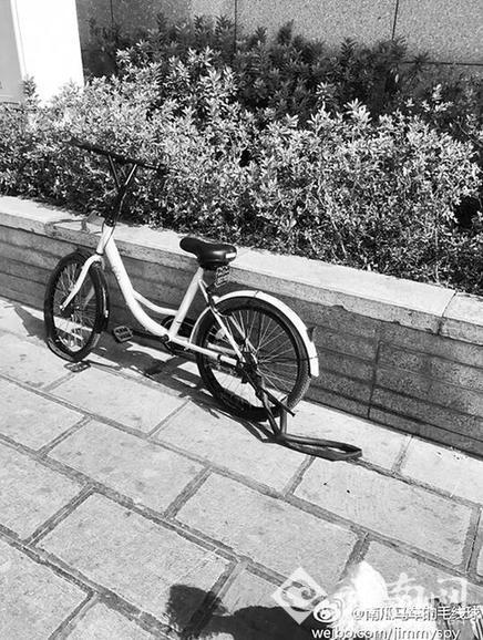 """昆明街头共享单车 每天六七十辆""""受伤"""""""