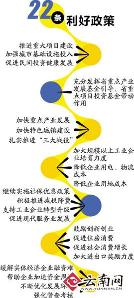 云南省政府22条措施促经济持续平稳发展
