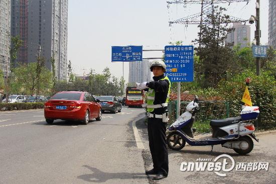 西安交警曝光50个违停车辆 一车辆平均每周违停一次