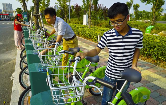 蚌埠市首家公共自行车服务系统开通运营