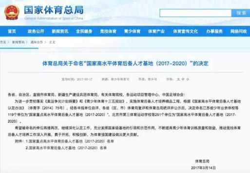 """青海两所院校获""""国家高水平体育后备人才基地""""称号"""