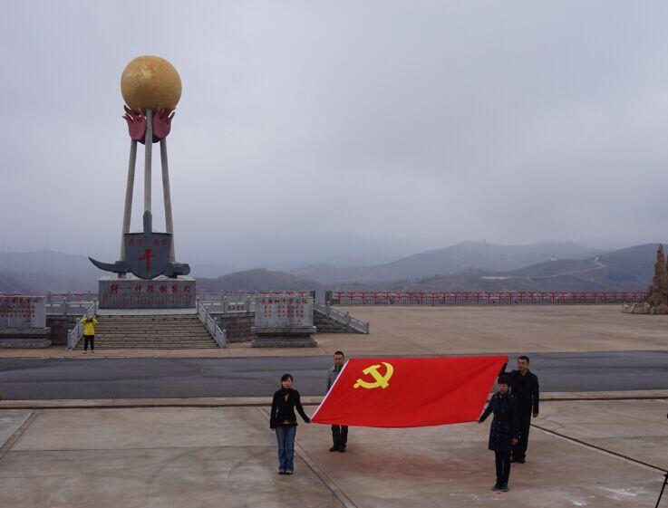 面对党旗,重温入党誓言