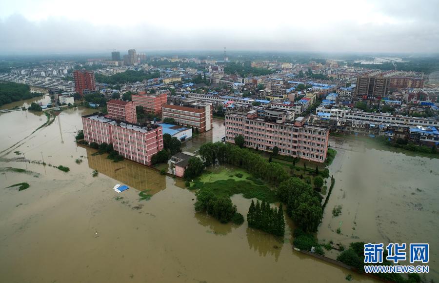 航拍直击:桐城遭遇特大暴雨