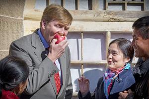 (资料)陕西苹果首次被选为国礼 受到外国元首称赞