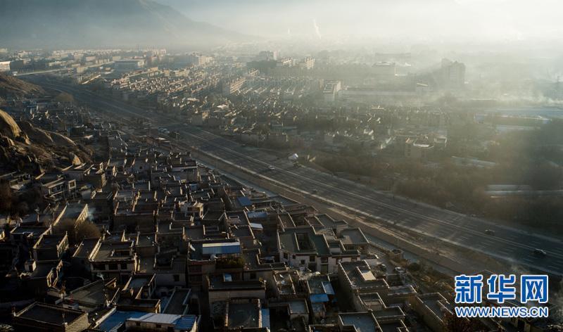 拉萨环城路主体框架基本形成
