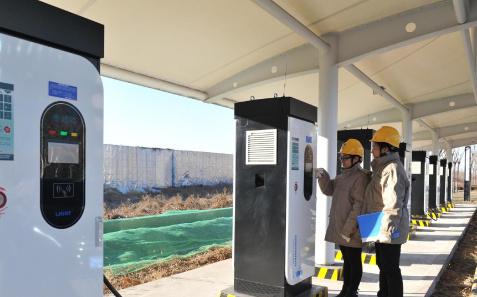 国网天津电力推进电动汽车分时租赁试点区域充电桩群建设