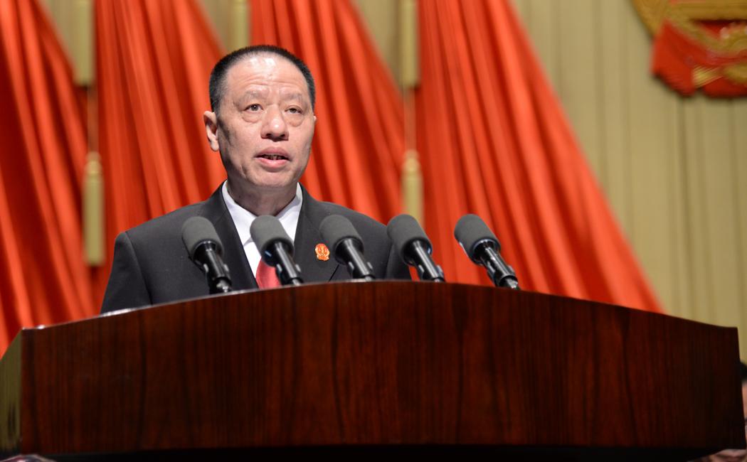 张坚作安徽省高级人民法院工作报告