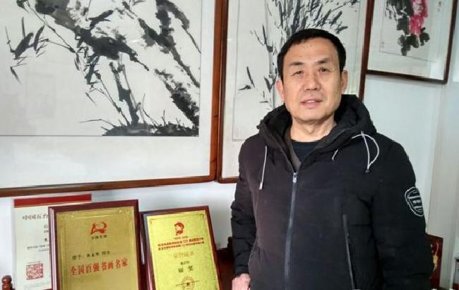 淮南画家风格独特获金奖