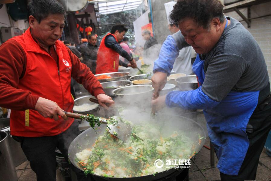 爱心芥菜饭 香飘温州城