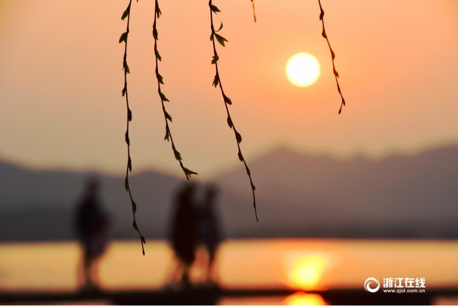 杭州:西湖夕阳天
