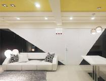 黑白+暖黄 93平工程师的摩登美居