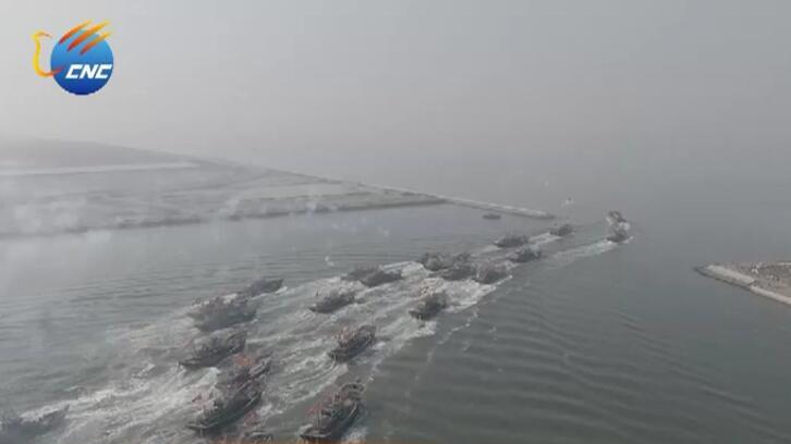 冰融雪消 盘锦二界沟渔民迎来盛大的开海节