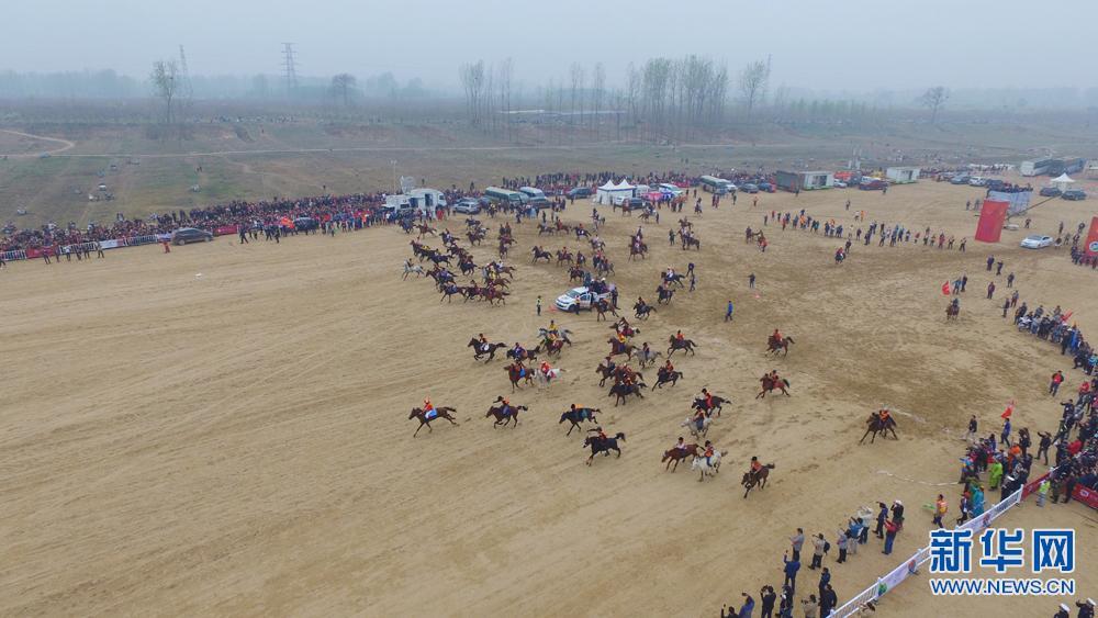 新华网航拍:中华民族大赛马·2017传统耐力赛