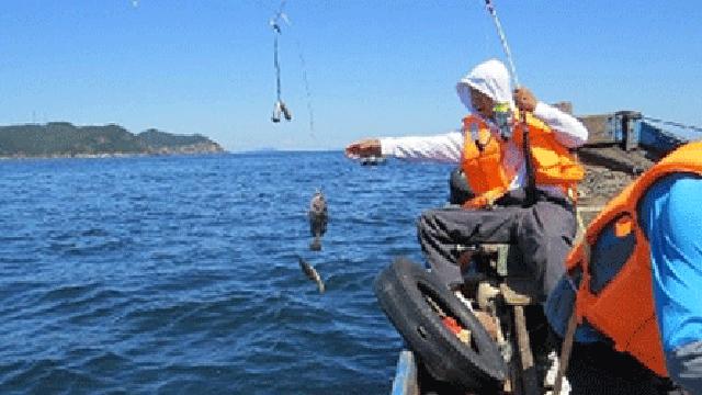 大连:海钓高手獐子岛挥杆争霸