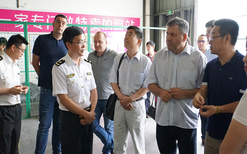 波兰考察团考察宁波栎社保税物流中心