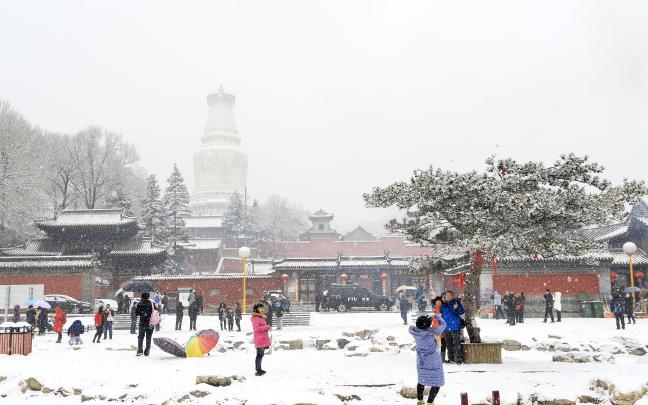 五台山喜降春雪