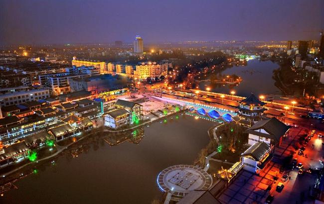 滁州南湖公园夜色美