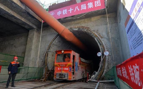 全国最长地铁重叠隧道贯通