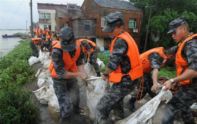 安徽宣城:灾情持续 救灾工作有序开展