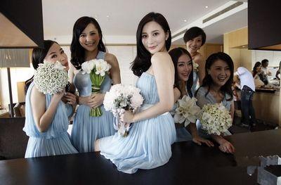 李小璐伴娘团名单_李小璐结婚谁是伴娘图片