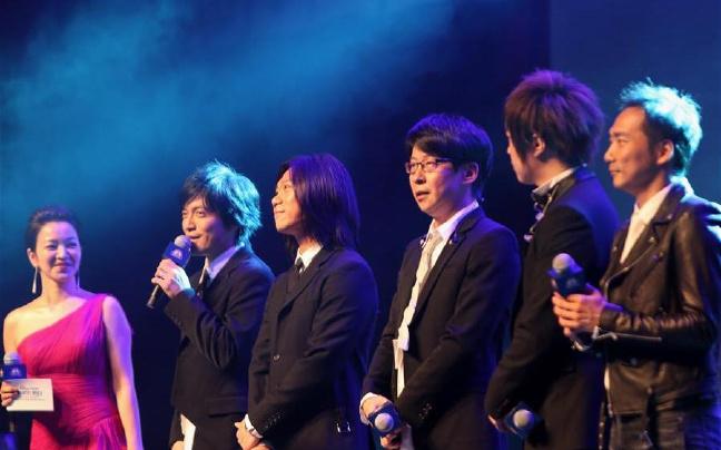 台湾摇滚乐队五月天乐队在沪举行歌迷见面会