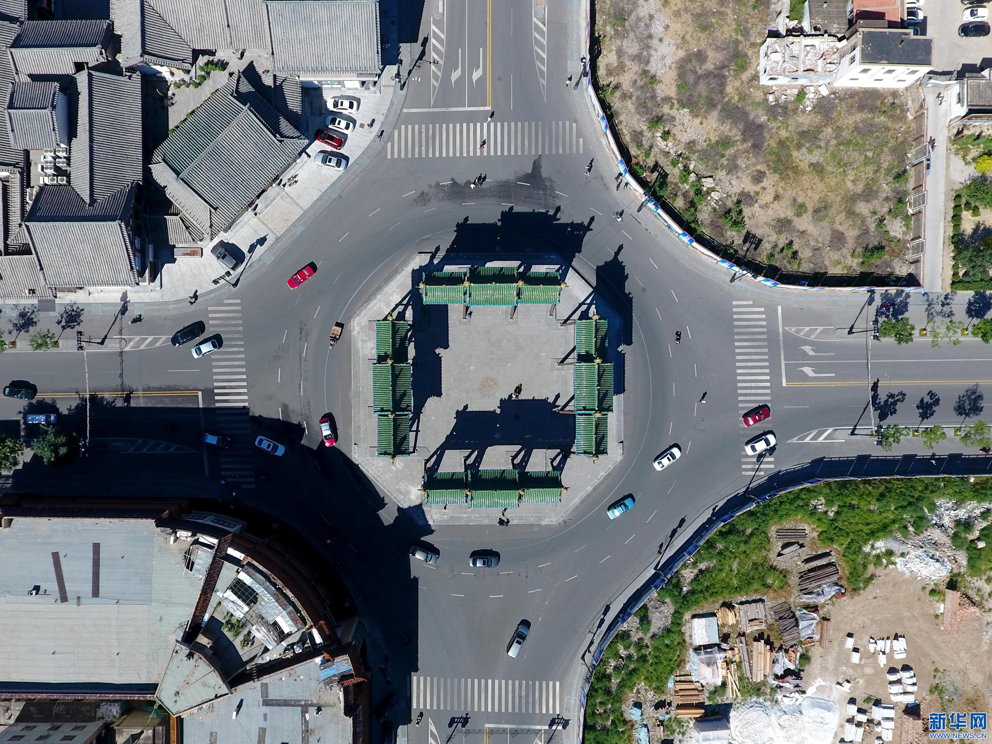 新华网无人机航拍大同  俯瞰古都的气质与颜值