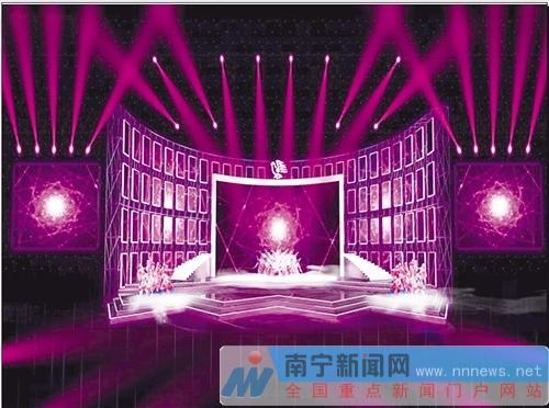 今年民歌节舞台效果图出炉 设计突出青春炫酷元素