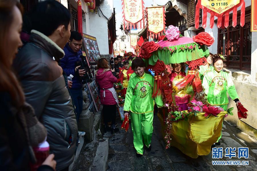 肥西三河:民俗展演迎新春