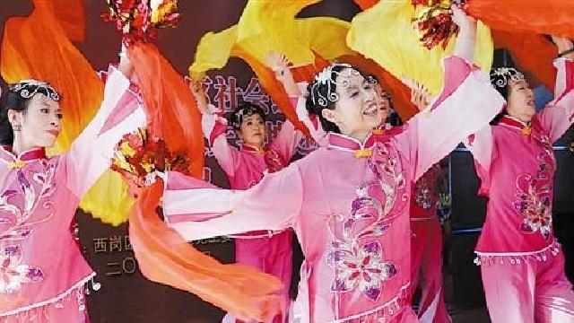 大連:日新街道舉辦新春匯報演出活動