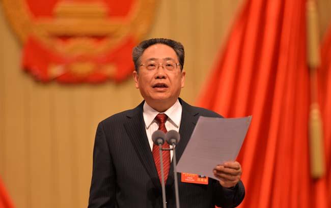 李錦斌宣布安徽省十二屆人大七次會議開幕