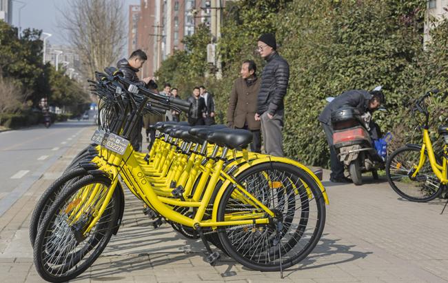 共享单车亮相合肥街头